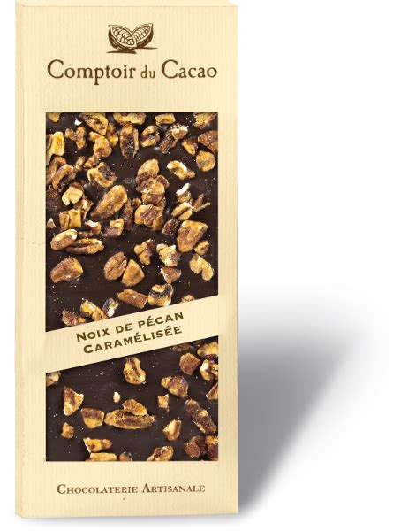 comptoir du cacao comptoir du cacao pecan gourmet chocolate bar