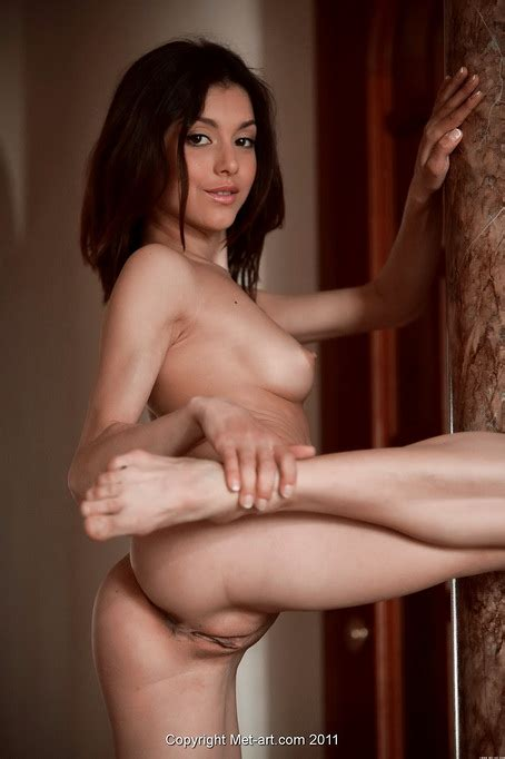 Naked Hot Chick With Shaved Pussy Takes You Up Close With