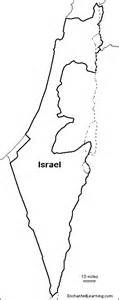 Free Outline Map Of Israel by Outline Map Israel Enchantedlearning