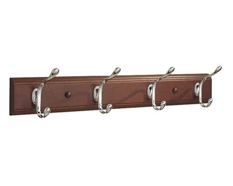 coat hooks and racks wood hat and coat hook rack walnut in wall coat racks
