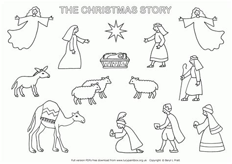 nativity coloring page pdf free printable nativity scene coloring pages nativity