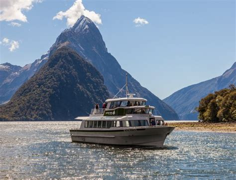small boat tours new zealand mitre peak cruises small group boat tours on milford sound