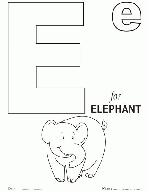 best photos of letter e coloring pages alphabet letter e