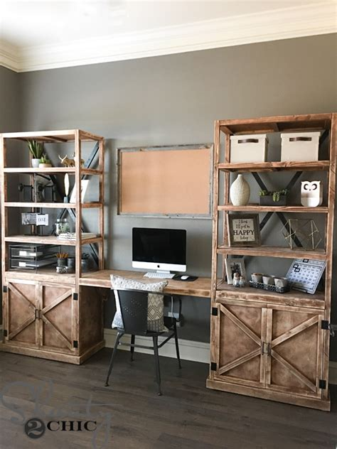 diy office desk system shanty 2 chic