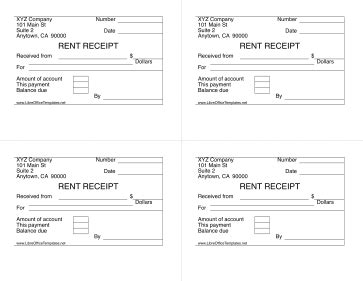 libreoffice templates receipt 4 up rent receipts