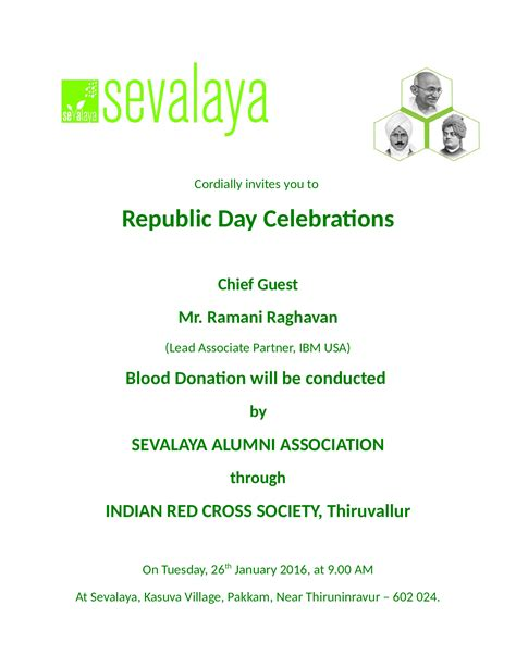 Invitation Letter For Visa Republic invitation letter format for republic day choice image