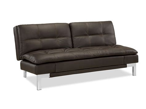 convertable couch valencia convertible sofa java by serta lifestyle