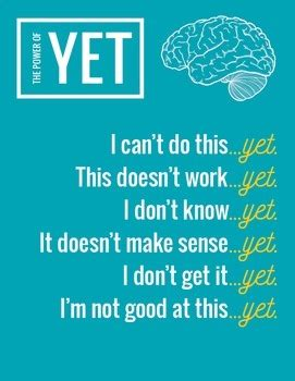 i can t do that yet growth mindset books growth mindset poster quot the power of yet quot by creative