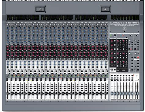 Mixer Behringer Sx4882 behringer sx4882 eurodesk ultra low noise design 48 24 input 8 in line mixer with xenyx mic