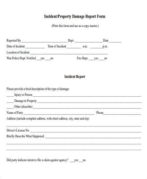 property damage waiver template 9 sle property damage release forms sle templates