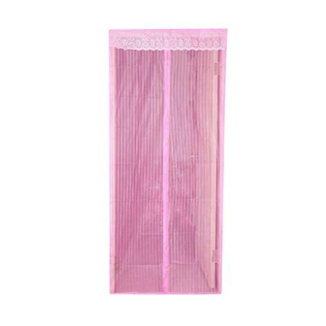 Tirai Nyamuk Tirai Pintu Magnetik jual eigia tirai pintu magnet anti nyamuk pink tua