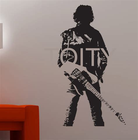 Tupac Wall Mural bruce springsteen wall sticker guitarist vinyl decor music