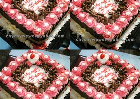 Coklat Kue Tart Segitiga resep kue tart cantik murah meriah untuk si pemula