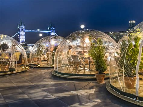 dine in a heated igloo on the banks of london s river you can now dine in a festive igloo by the thames