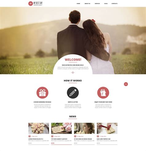 Wedding Planner Theme by 50 Top Wedding Themes Templates Design