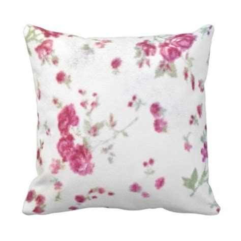 cute girly floral shabby chic white red fuzzy fun throw pillows trow pillow pinterest