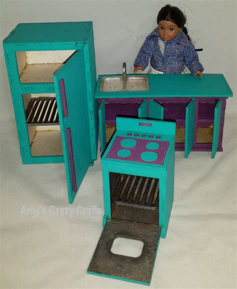 american girl doll house furniture doll furniture kitchen mini american girl middie unassembled