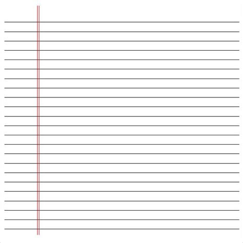 Printable Notebook Paper Pdf Printable Pages Microsoft Word Notebook Paper Template