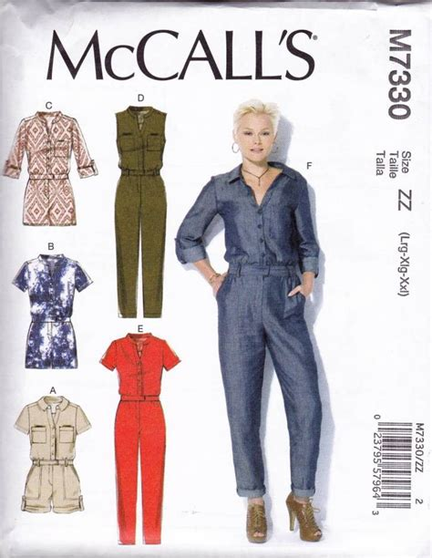jumpsuit pattern mccalls rompers and jumpsuits sewing pattern mccall s m7330 lrg