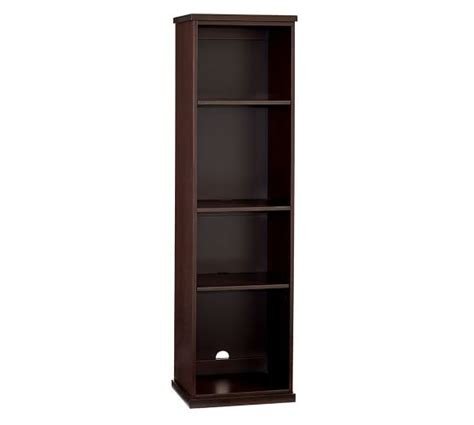 narrow bookcase espresso bedford narrow bookcase espresso pottery barn