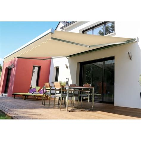advaning slim 12 ft manual retractable patio awning in
