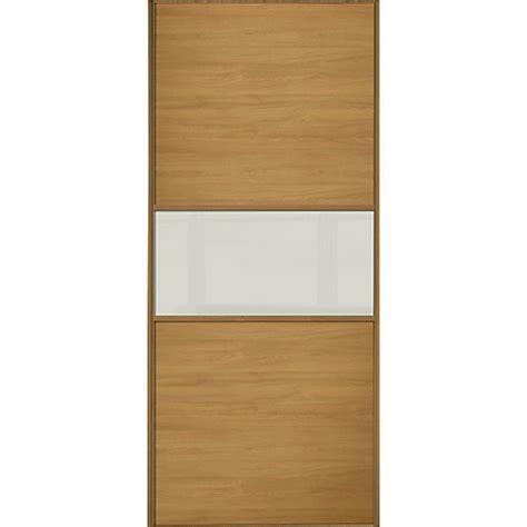 Interior Storage For Sliding Wardrobe Doors Wickes Sliding Wardrobe Door Fineline Oak Panel Soft White Glass Wickes Co Uk