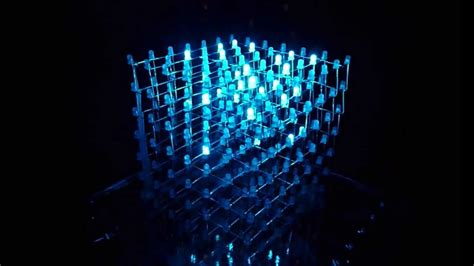 led cube light show 7x7x7 youtube