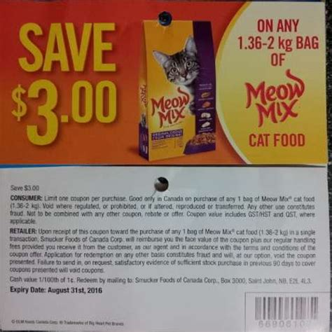 printable pet food coupons canada dollars cents 2016 coupon scan thread