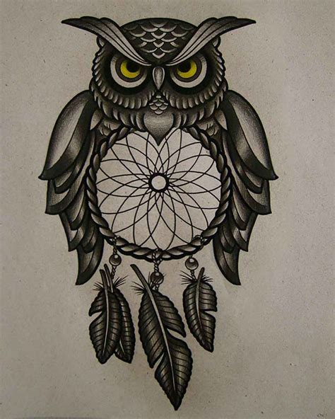 colorful owl tattoo designs owl designs ine trading
