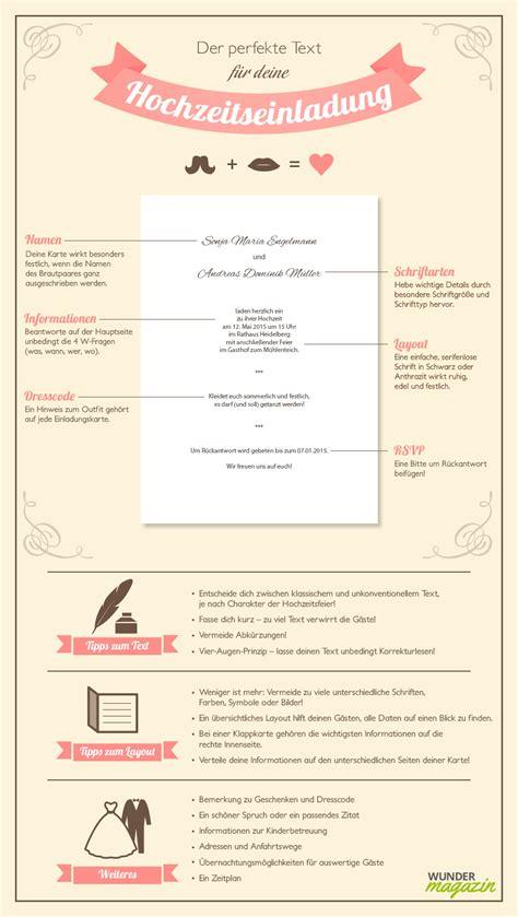 Hochzeitseinladung Informationen by Hochzeitseinladung Das Muss In Den Text Wundermagazin