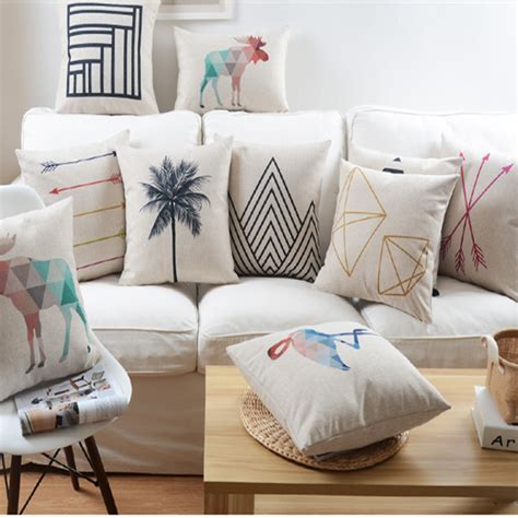 home decorative pillows nordic abstract geometric home decor pillow cushion linen