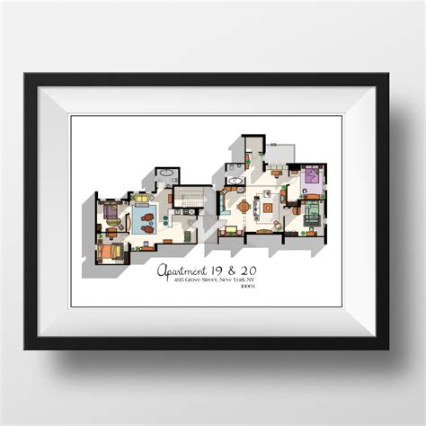 layout of monica s apartment friends tv show apartment floor plan friends tv show layout