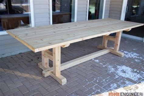 diy outdoor table legs h leg dining table 187 rogue engineer