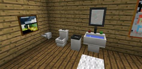 minecraft bathroom furniture more furniture mod minecraft pe mods addons