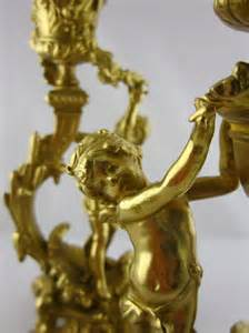 Cherub Antique by Antiques Atlas Superbl Bronze Gilt Cherub Candlesticks