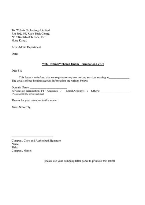 termination letter template hong kong 23 termination letter templates sles exles