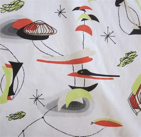 mid century modern fabric reproductions atomic mobiles retro mid century mod eames era modern hand