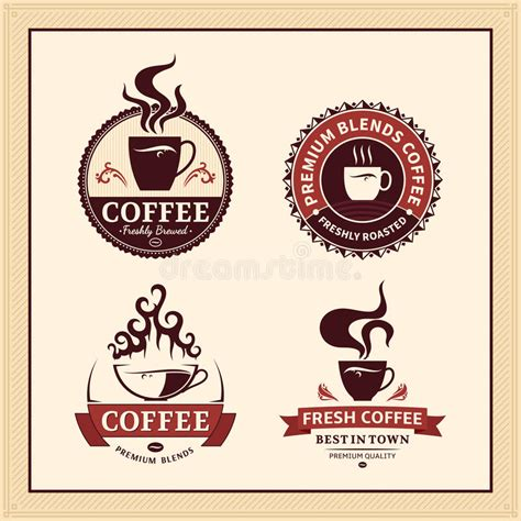 Design Elements Of A Coffee Shop | set of vector coffee shop labels icons and design