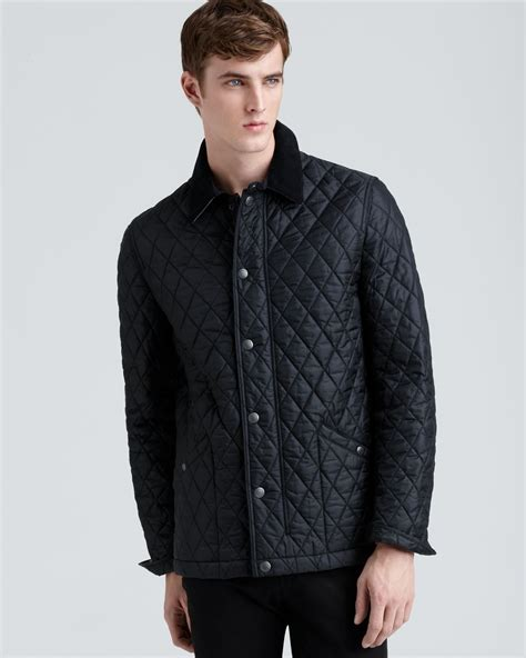 Burberry Quilted Barn Jacket by Burberry Roden Quilted Barn Jacket In Black For Lyst
