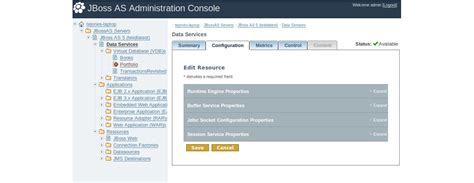 jboss admin console teiid scalable information integration
