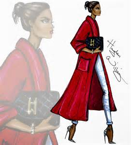 hayden williams fashion illustrations red blooded woman