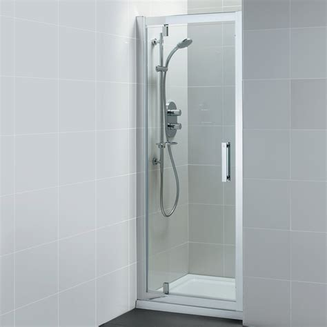 alcove shower doors ideal standard synergy pivot alcove shower door 800mm