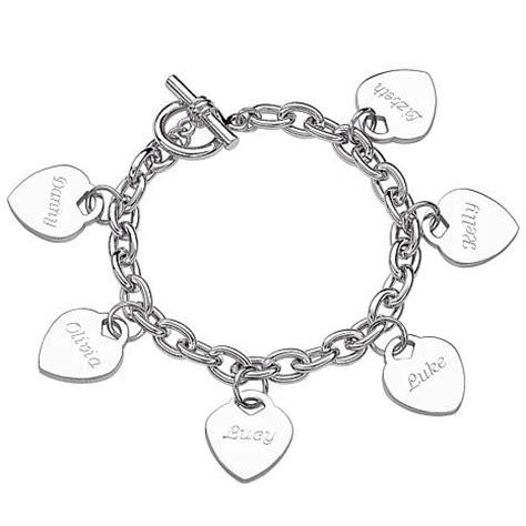 engraved hearts name charm 8 quot bracelet 6603229 hsn