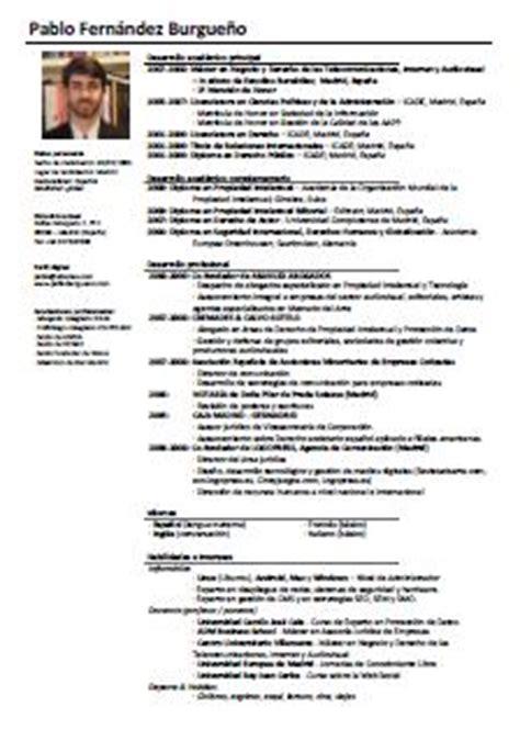 Modelo Curriculum Abogado En Ingles modelo de curriculum para abogados cv pablo f burgue 241 o