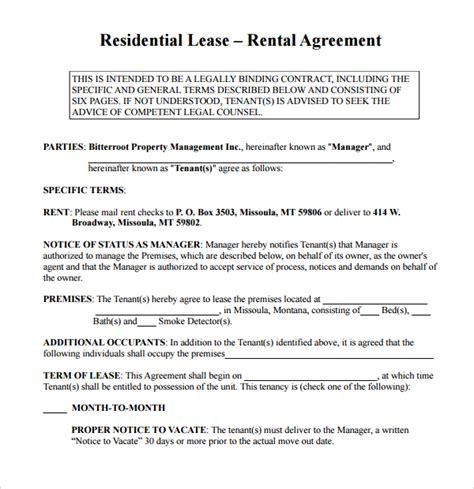 simple rental agreement 10 download free documents in