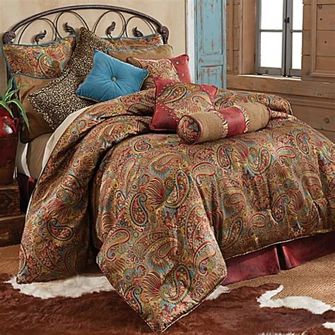 Leather Bedding Set Buy Hiend Accents San Angelo Comforter Set With Faux Leather Bed Skirt From Bed Bath