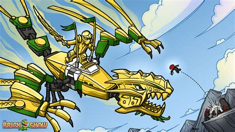 lego ninjago golden dragon under attack coloring page
