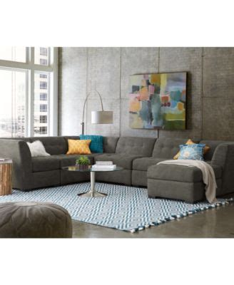 roxanne sofa macys roxanne fabric 6 piece modular sectional sofa corner unit