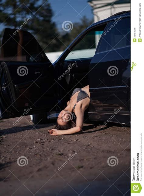dead woman  car royalty  stock images image