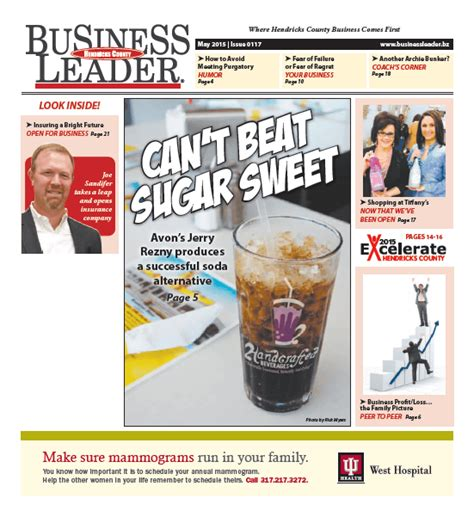 Hendricks County Search Hendricks County Business Leader May 2015 Business Leader